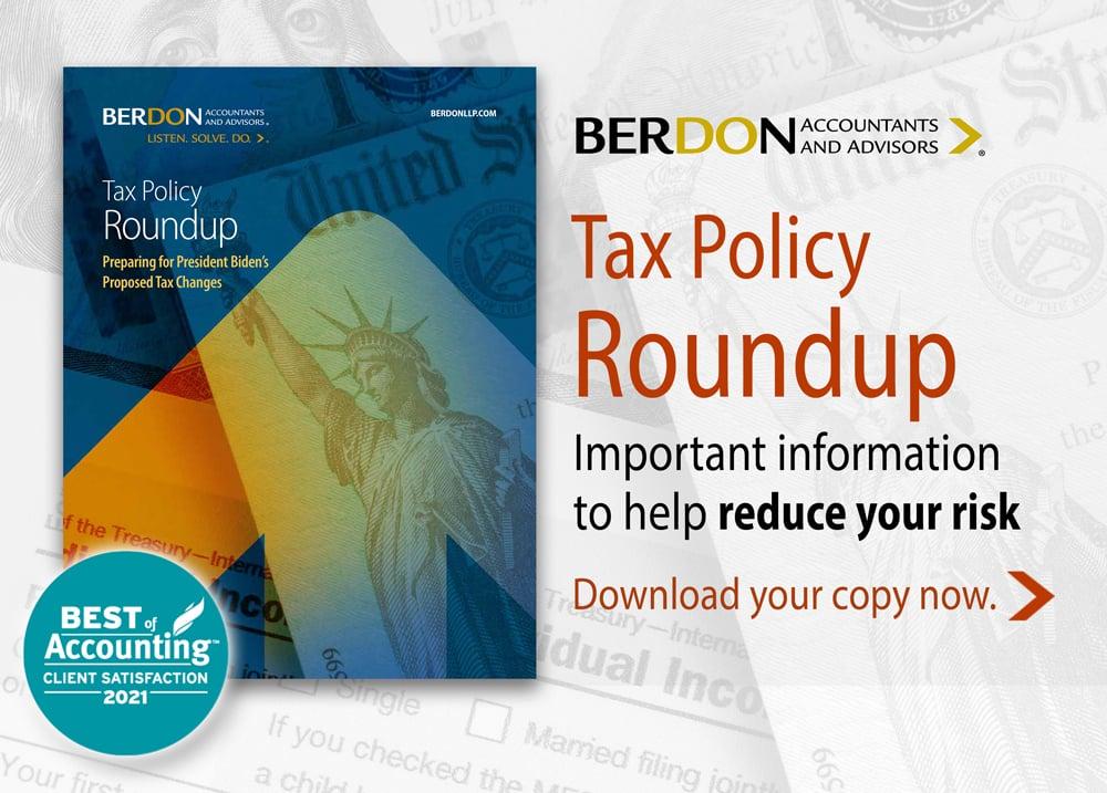 BERDON-Biden Tax Policy Roundup